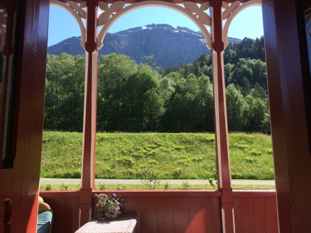 Håstein mountain from the porch